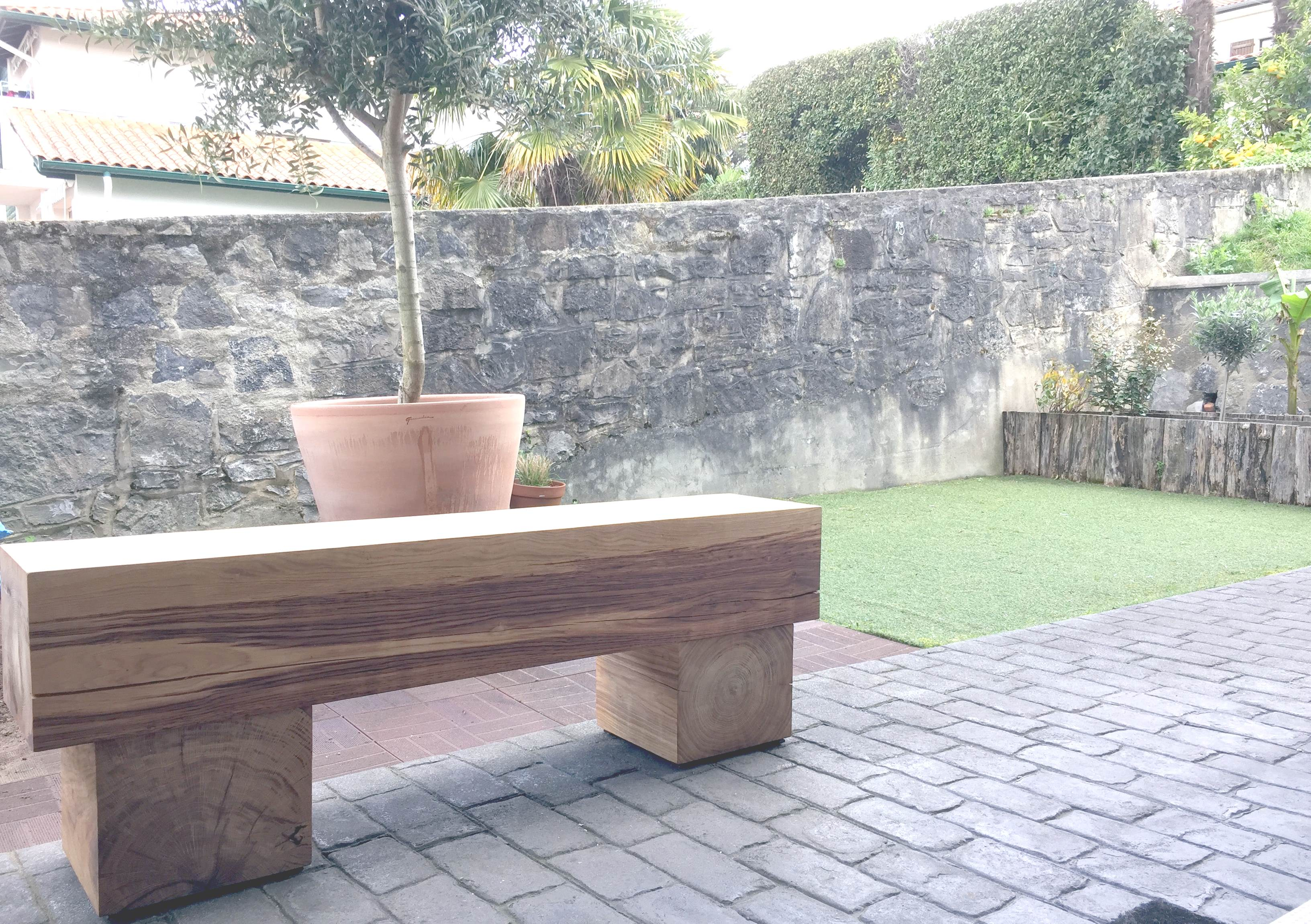 cr ations bois darrieumerlou banc bois ch ne massif. Black Bedroom Furniture Sets. Home Design Ideas