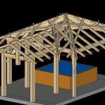 kiosque carré vue 3D