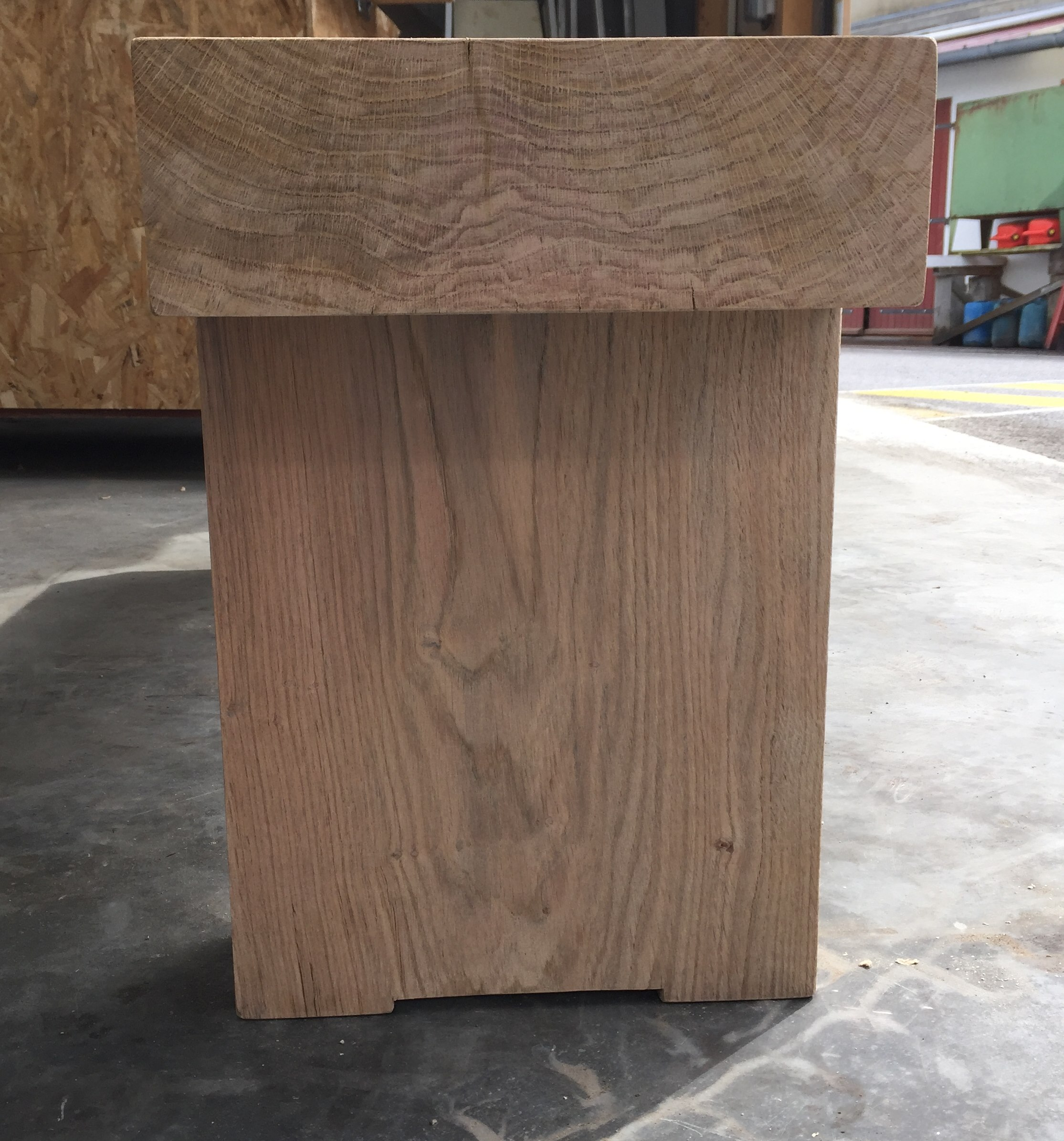 Banc bois chêne classique 1