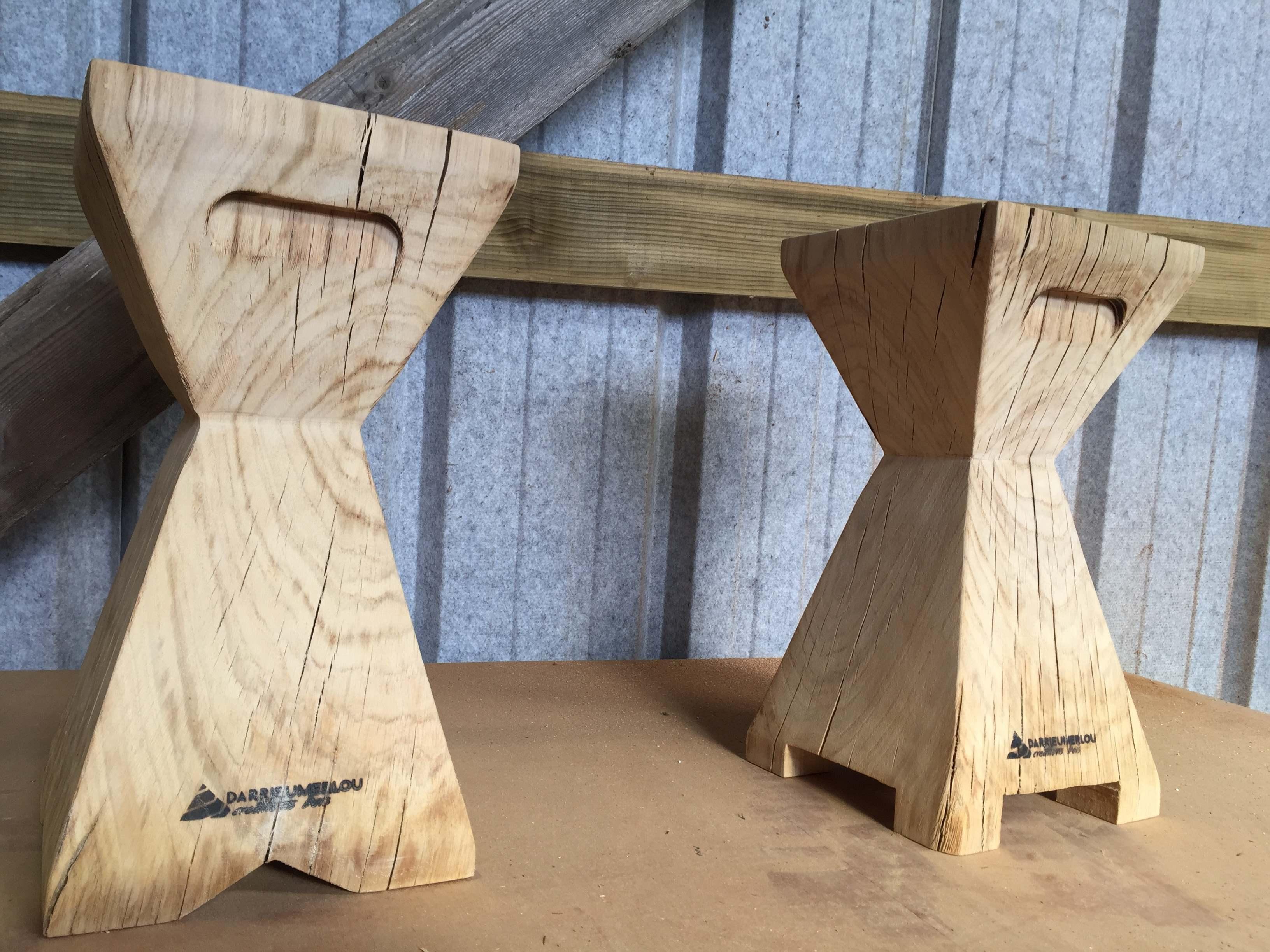 tabouret bois chêne massif