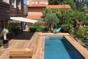 terrasse bois cumaru piscine bayonne